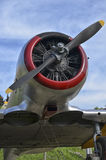 Radial engine of a North American T-6 Royalty Free Stock Image