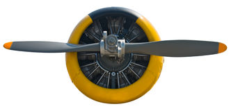 Radial Engine & Prop isolated Royalty Free Stock Images