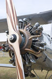 Radial engine with propeller Royalty Free Stock Images