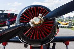 The radial engine Vedeneyev M-14P of trainer/aerobatic aircraft Yakovlev Yak-50. Stock Image