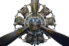 Radial Engine. A World War Two era radial aircraft engine Stock Photo