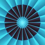 Radial Fan Effect stock image