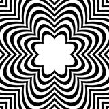Radial geometric graphic with distortion effect. Irregular radiating lines pattern. abstract monochrome pattern. Royalty free vector illustration royalty free illustration