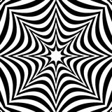 Radial geometric graphic with distortion effect. Irregular radiating lines pattern. abstract monochrome pattern stock illustration