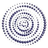 Radial geometric motif dots pattern vector illustration