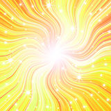 Radial glow with rays and stars Royalty Free Stock Images