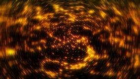 Radial gold blur background. Digital illustration Stock Image