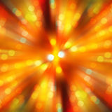 Radial gold blur of bokeh spot light design. Abstract background stock images