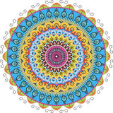 Radial graphic patterns. Very beautiful color patterns arranged in a circle Stock Images