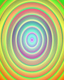 Radial green abstract background. In pink, green, yellow, blue and orange hues. Soft abstract radial background vector illustration