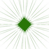 Radial green shape isolated on white background. Square with dis. Torted pucker / bloat effect - Royalty free  illustration Royalty Free Stock Images