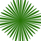 Radial green shape isolated on white background. Square with dis. Torted pucker / bloat effect - Royalty free vector illustration Royalty Free Stock Photo