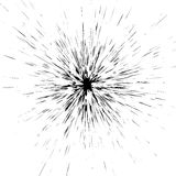Radial grungy spattered, splattered liquid paint effect. Splashe Royalty Free Stock Image