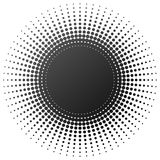 Radial halftone element Stock Image