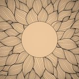 Radial   hand-drawn pattern, waves background Royalty Free Stock Images