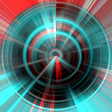 Radial hypnotic background, abstract image Stock Photography