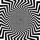 Radial, irradiar alinha com ondulada, distorção do ziguezague ilustração do vetor