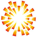Radial light (vector) Stock Photo