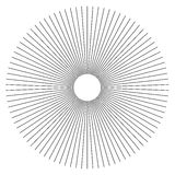Radial lines abstract geometric element. Spokes, radiating strip. Es. - Royalty free vector illustration royalty free illustration