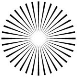 Radial lines abstract geometric element. Spokes, radiating strip. Es.  - Royalty free vector illustration Stock Photography