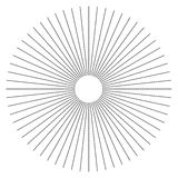 Radial lines abstract geometric element. Spokes, radiating strip. Es. - Royalty free vector illustration stock illustration
