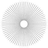 Radial lines abstract geometric element. Spokes, radiating strip Royalty Free Stock Photography