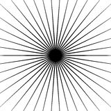 Radial lines element. Geometric background, pattern with circular converging lines. Royalty free vector illustration royalty free illustration