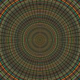 Radial lines over a colorful random concentric circles Royalty Free Stock Photos