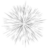 Radial lines, star burst, sunburst background. Fash, glitter eff. Ect stock illustration