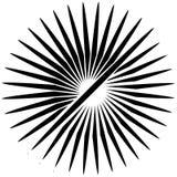 Radial, Linien ausstrahlend Asymetrisches geometrisches Element Circula stock abbildung