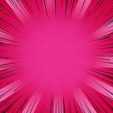 Radial взрыва вспышки комика Manga выравнивает предпосылку Стоковая Фотография RF
