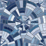 Radial mosaic tiles. Royalty Free Stock Photography