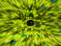 Radial motion blur / zooming effect is yellow Stock Photo