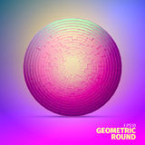 Radial ornament. Angular grid of 3d boxes. Block sphere. Radial ornament. Angular grid of 3d boxes. Background for web Royalty Free Illustration