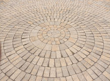 Radial paving stone pattern Stock Photos