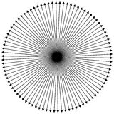 Radial - radiating lines outwards from center point Stock Images