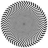 Radial, radiating lines with rotation, spiral effect. Abstract e Stock Images