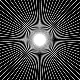 Radial, radiating straight thin lines. Circular black and white. Abstract minimal illustration. Intersecting lines at center. - Royalty free vector illustration royalty free illustration