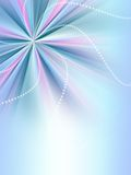 Radial rainbow abstract background with shiny stripes. In blue Stock Photography
