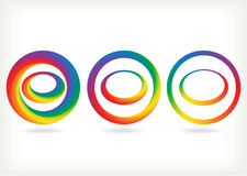 Radial rainbow set Royalty Free Stock Image