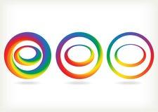 Radial rainbow set Royalty Free Stock Image