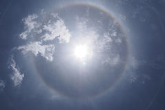 Radial ray from the sun Royalty Free Stock Photography