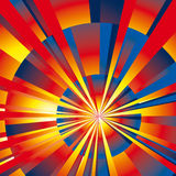 Radial Rays Background. Vibrant Color radial rays background. Vector Illustration Royalty Free Stock Images