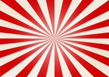 Radial Red and Beige Stripes stock illustration