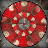 Radial red gray circular abstract pattern Stock Image