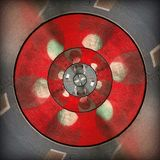 Radial red gray circular abstract pattern stock images