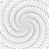 Radial rotating lines abstract geometric circular pattern. Royalty free vector illustration Stock Images