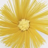 Radial spaghetti and farfalle Royalty Free Stock Photography