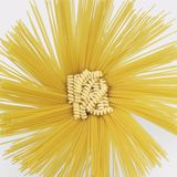 Radial spaghetti and fusilli Royalty Free Stock Image