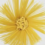 Radial spaghetti and rotini Royalty Free Stock Photo